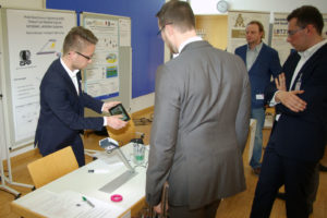 Die Veranstaltung bot Raum zur Diskussion mit den Fachausstellern, hier die GPP Communication GmbH & Co. KG.